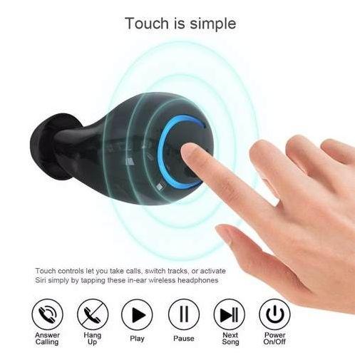 Fone De Ouvido Sem Fio Bluetooth 4.2 HBQ-Q18 Dual Tws Original