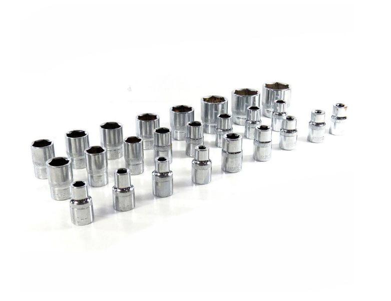 Kit Chave Catraca Profissional com 32 peças Aço Cromado Profissional Idea