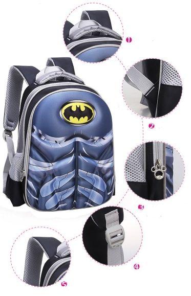 Mochila Super Heróis - Super Man, Batman, Capitain America, Iron Man