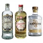 KIT 1 AMAZZONI GIN TRADICIONAL + 1 MANIUARA + 1 HAMBRE 750 ml