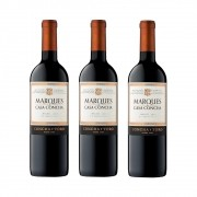KIT 3 VINHO TINTO MARQUES CASA CONCHA MALBEC 750ml