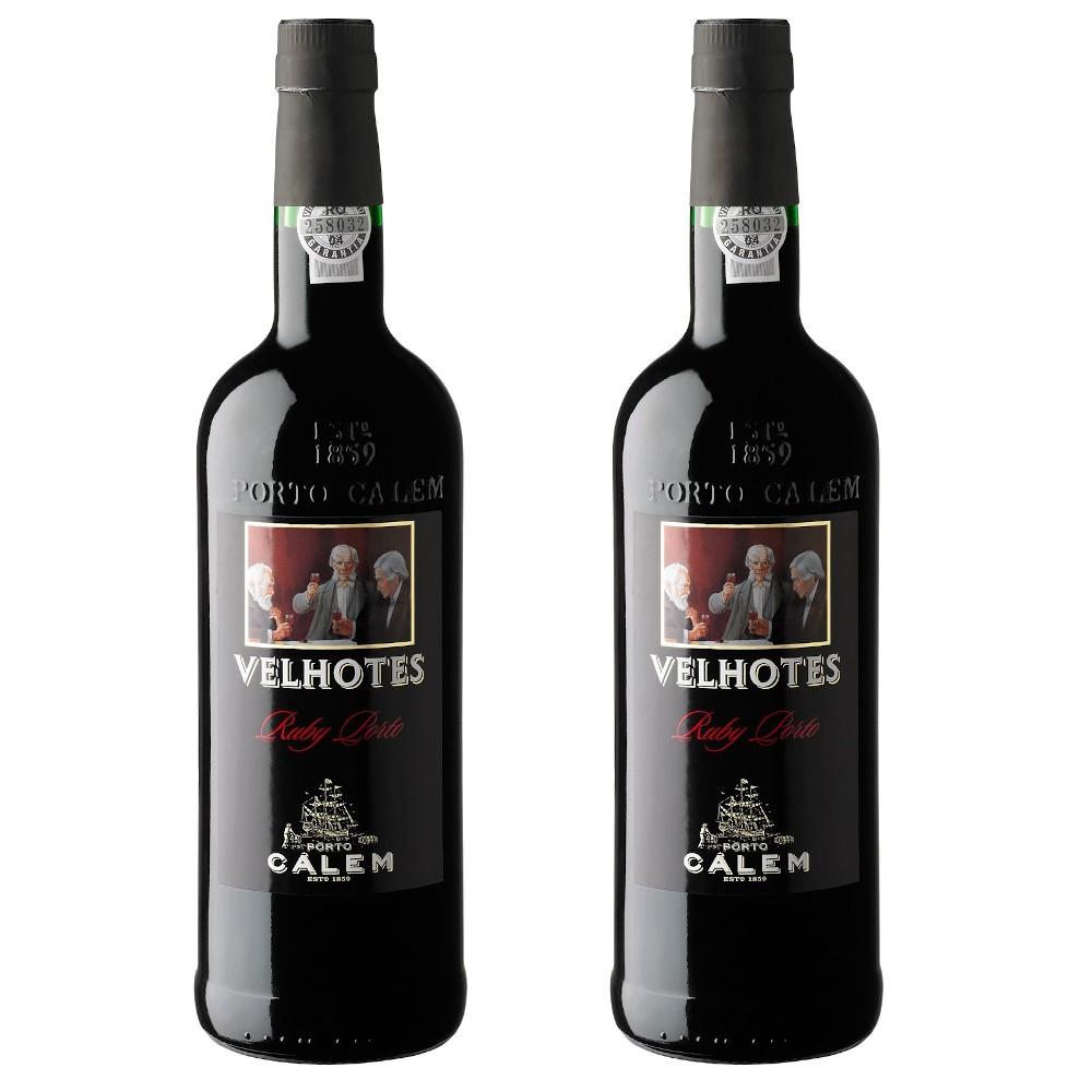 2 VINHOS DO PORTO CALEM RUBY VELHOTES