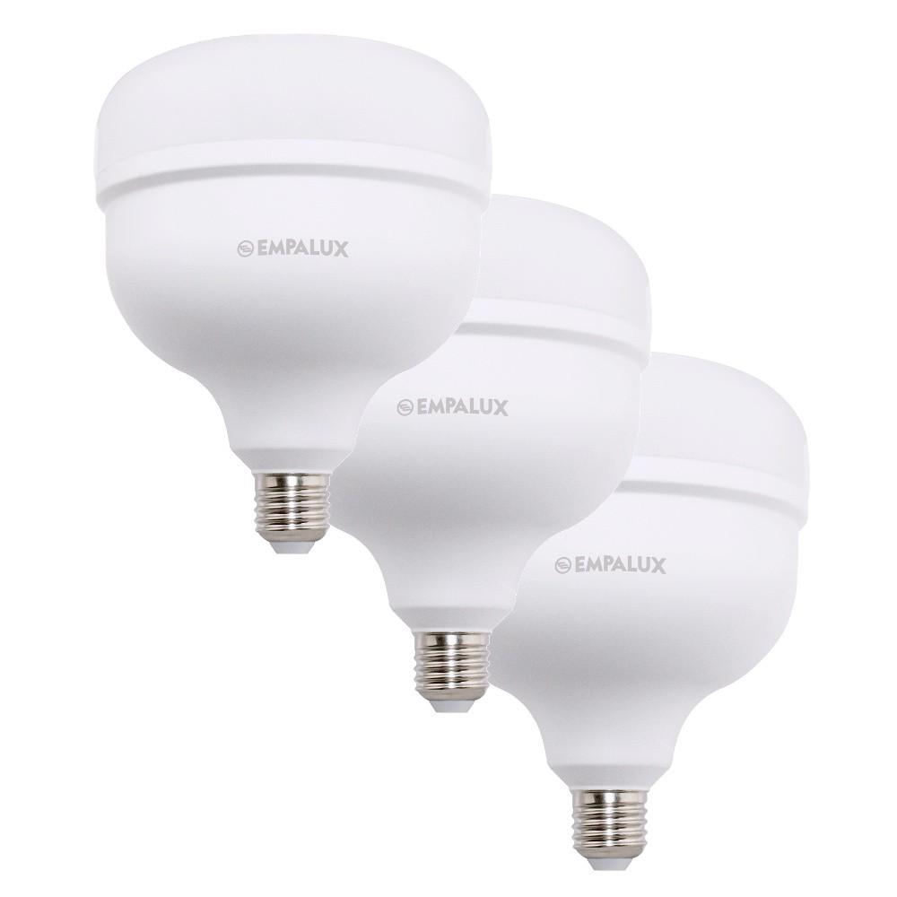 3 Lâmpada Led 50w Alta Potência E27 Branco Empalux Bivolt