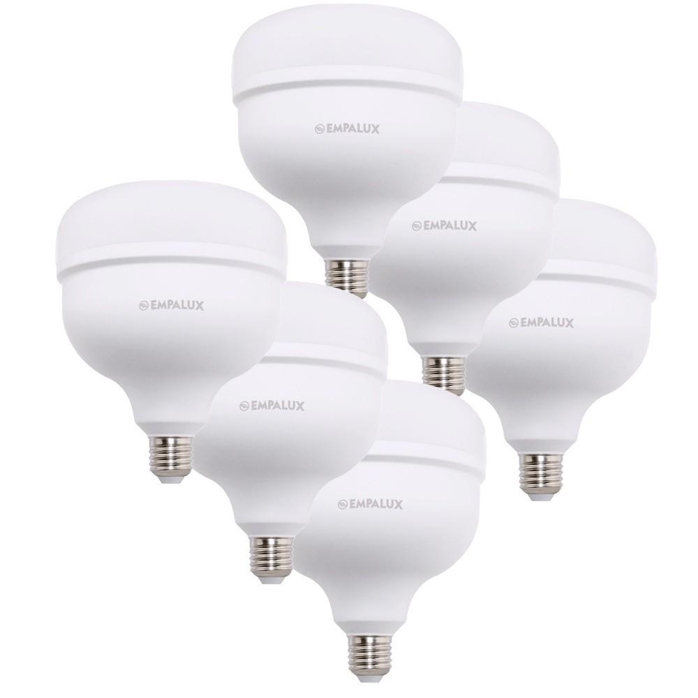 6 Lâmpada Led 50w Alta Potência E27 Branco Empalux Bivolt