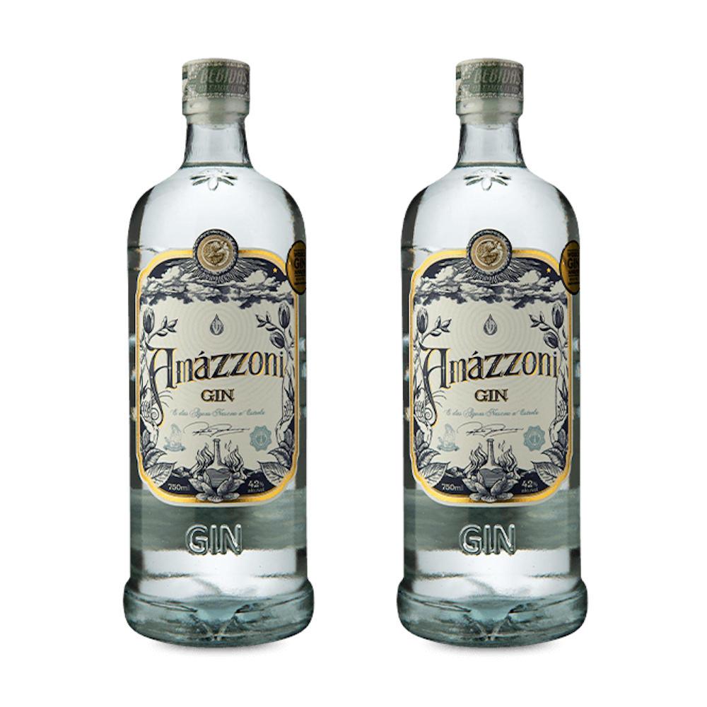 KIT 2 GARRAFA AMAZZONI GIN TRADICIONAL 750 ml