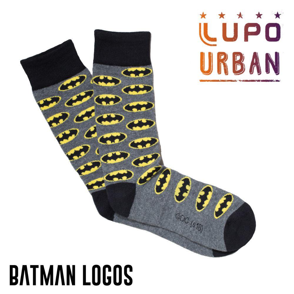 Meia Lupo Urban Batman Logos