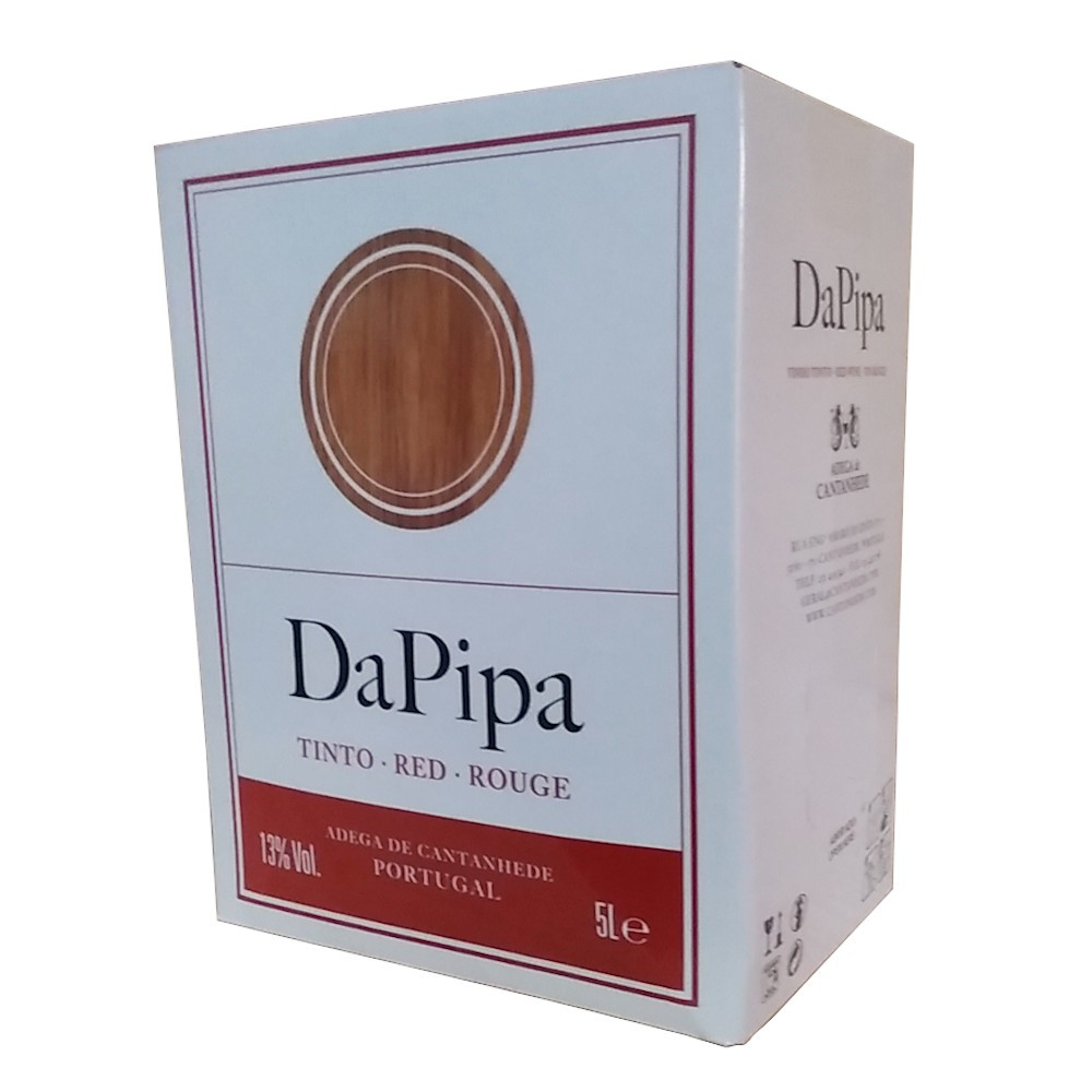 VINHO TINTO PORTUGUES DA PIPA BAG IN BOX 5 LITROS