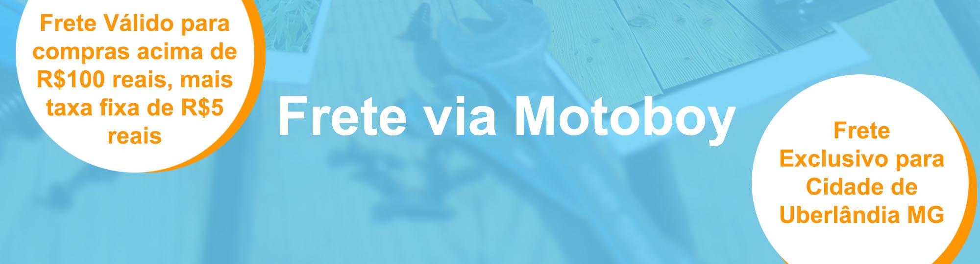 Frete via Moto Boy