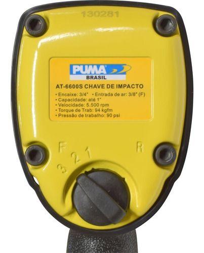 Chave De Impacto Puma Pneumática 3/4 At-6600s
