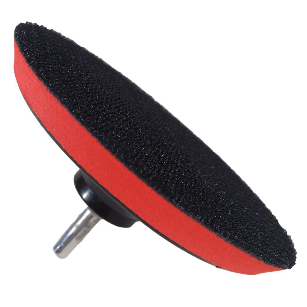 Disco de Borracha Com Velcro Para Furadeira e Esmerilhadeira + 15 Lixas Com Velcro Ctphor