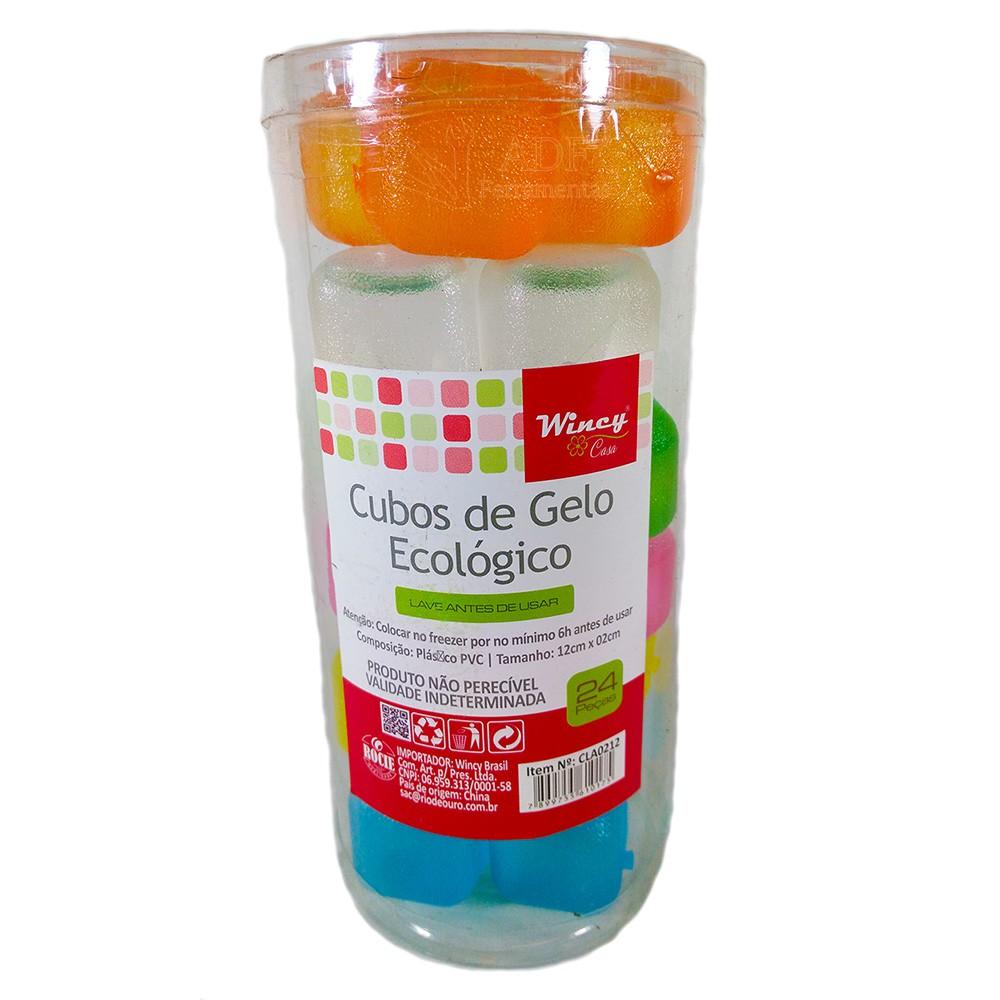 Gelo Artificial Cubo Colorido Com 24 Unidades Wincy