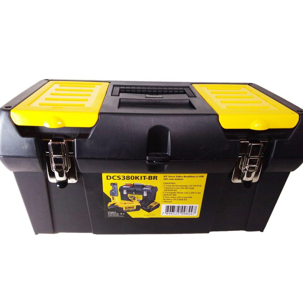 Serra Sabre Dewalt 20v Bateria Carregador Maleta - Dcs380kit