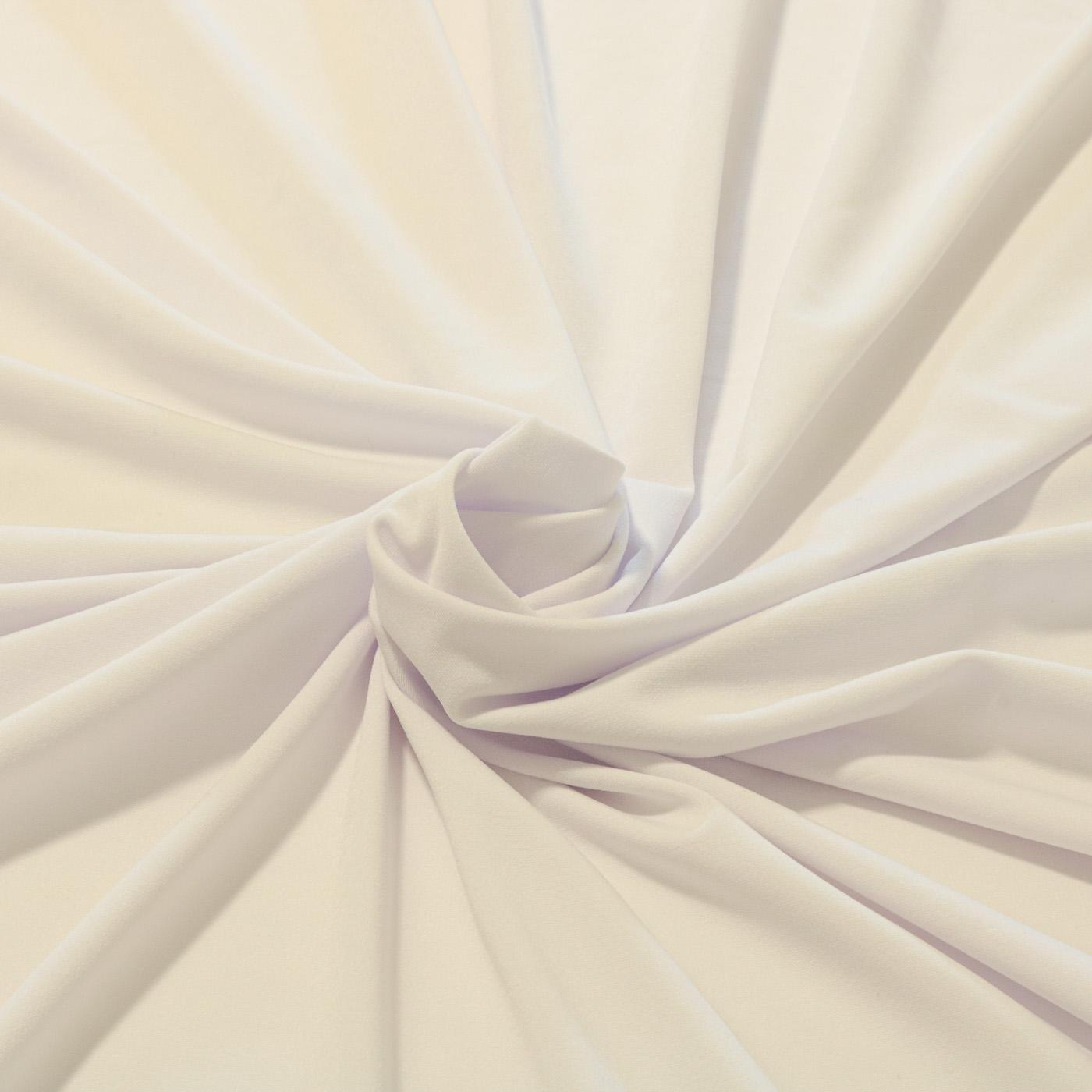 1,50 Metros Tecido Malha Liganete Lisa Branca
