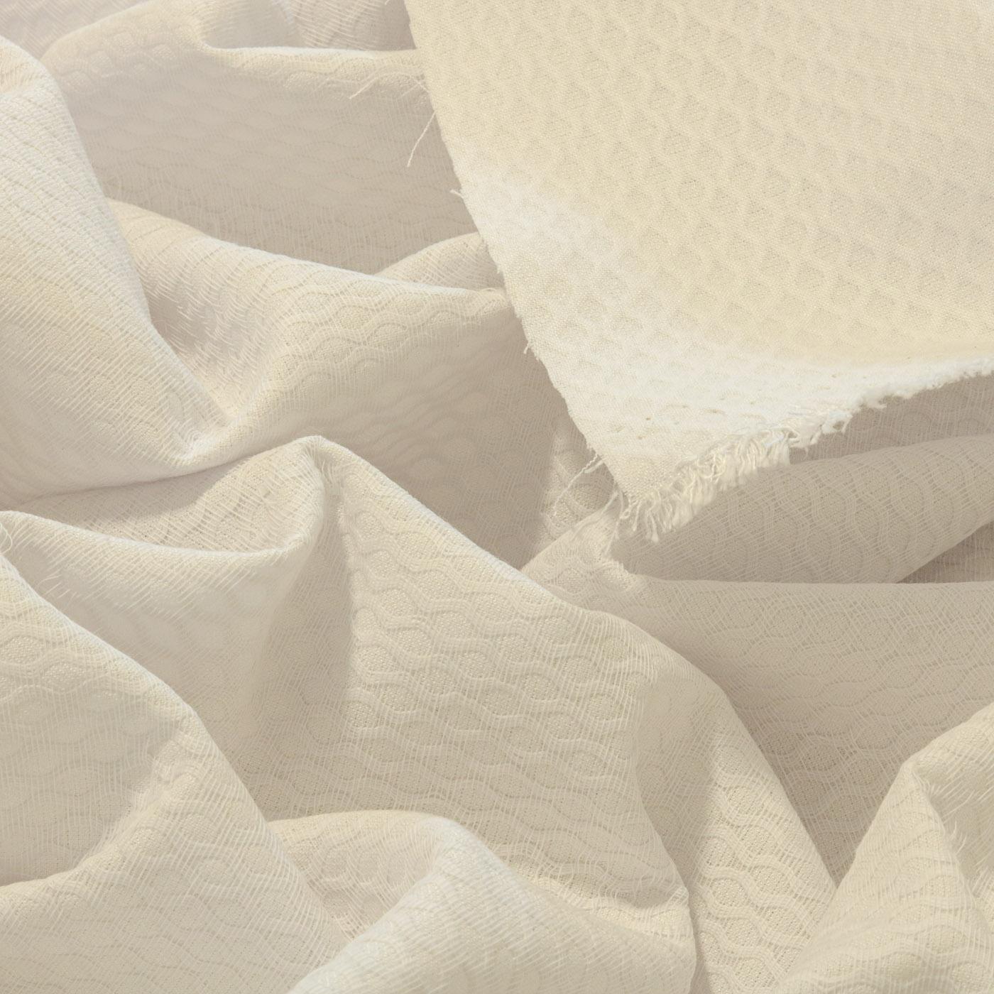 1 Metro Tecido Piquet Bordado Favinho 100% Algodão Branco