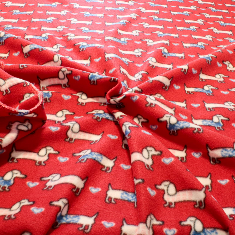 2 Metros Tecido Malha Soft Estampado Cachorro Salsicha