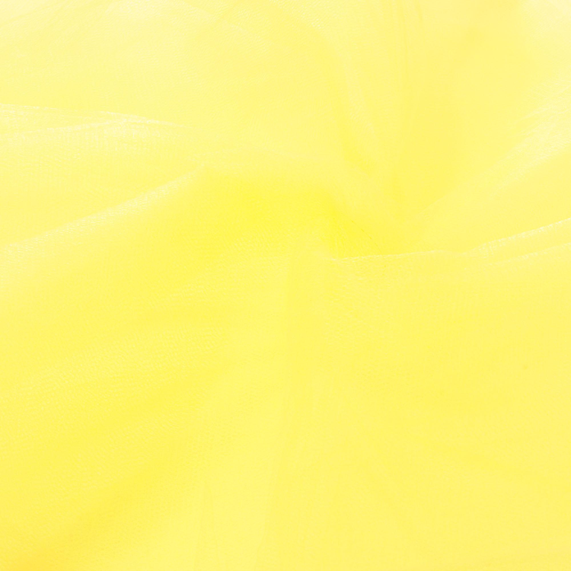 6 Metros Tecido Tule 100% Poliéster 1,20 Mt Largura Amarelo Bebê