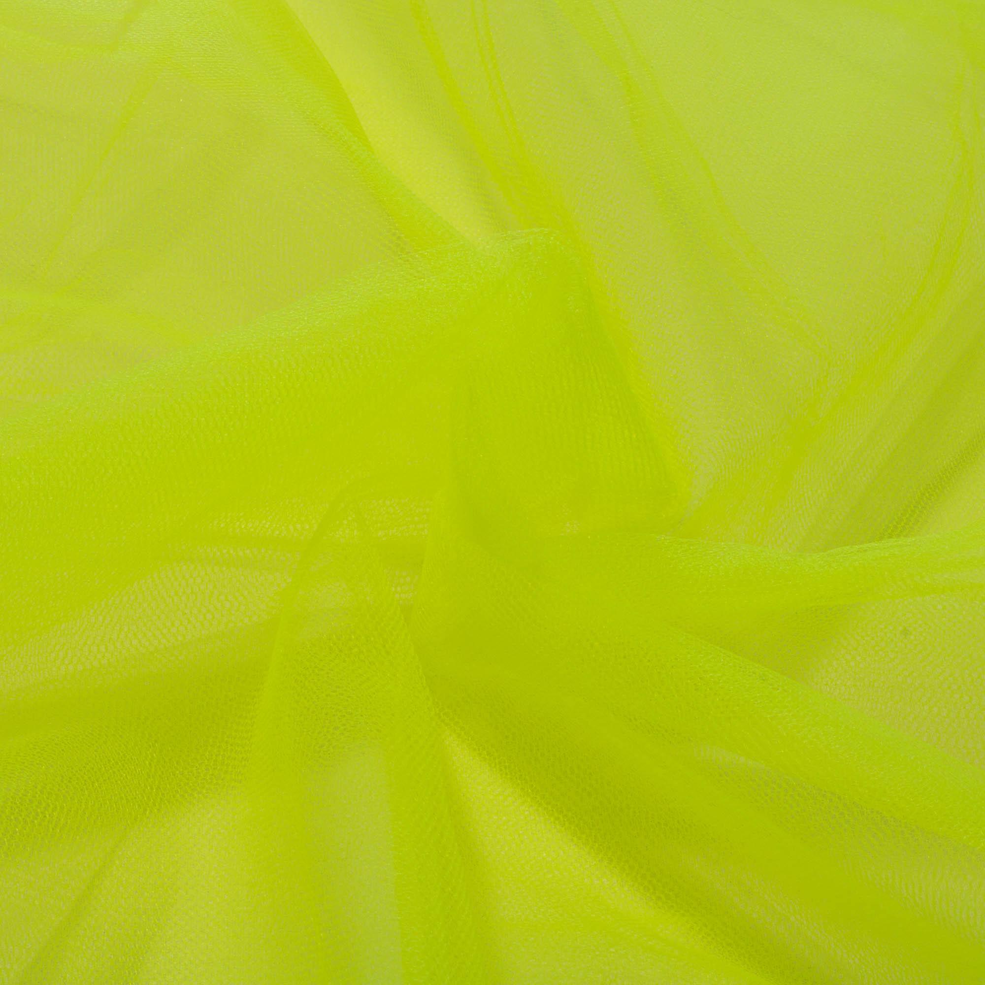 6 Metros Tecido Tule 100% Poliéster 1,20 Mt Largura Amarelo Limão