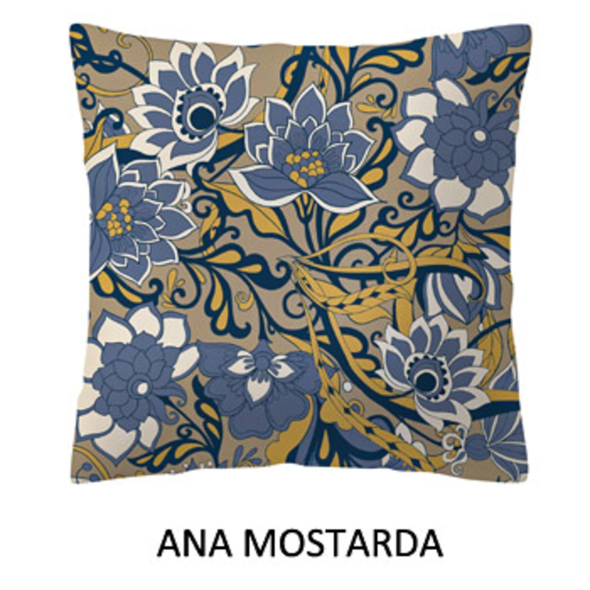 Almofada Madri Estampada Santista Ana Mostarda