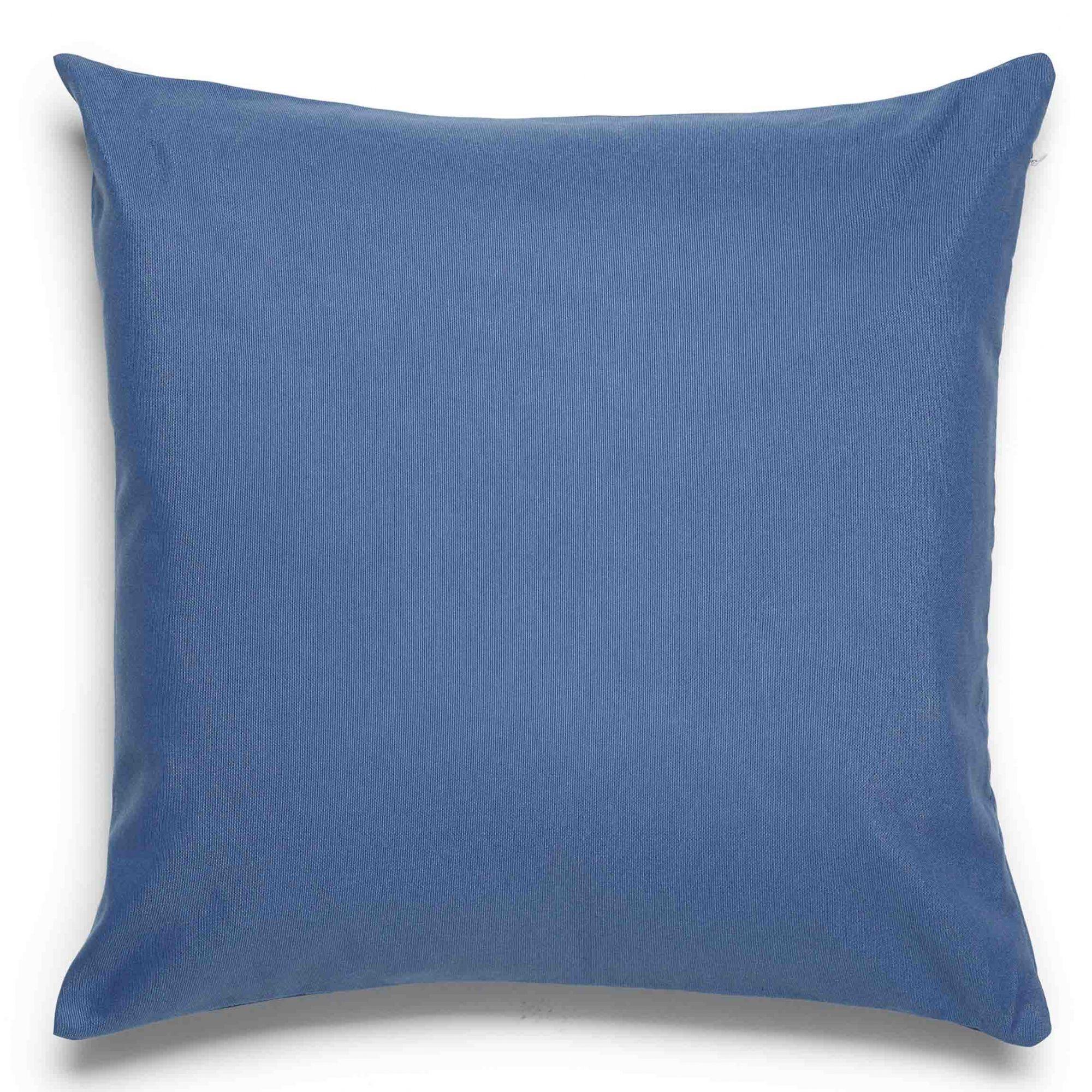 Capa para almofada santista madri 45 x 45 cm 81% algodao 19% poliester azul