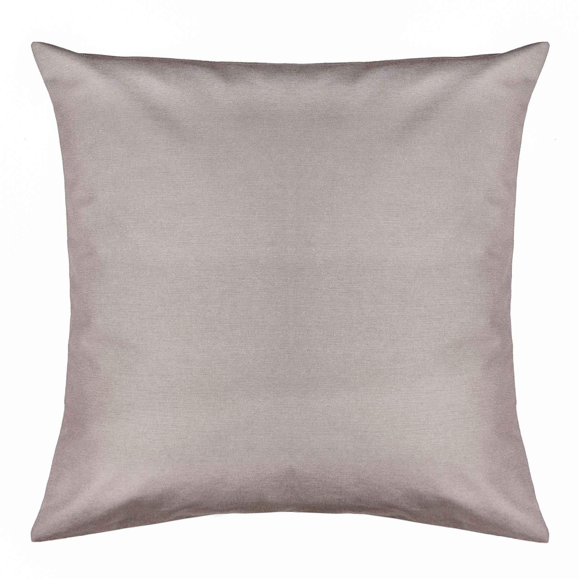 Capa para almofada santista madri 45cm x 45cm 81% algodao 19% poliester cinza
