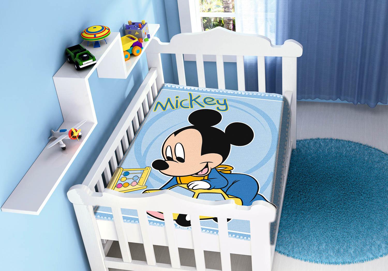 Cobertor Bebê Antialérgico Jolitex Disney Mickey Carrinhos