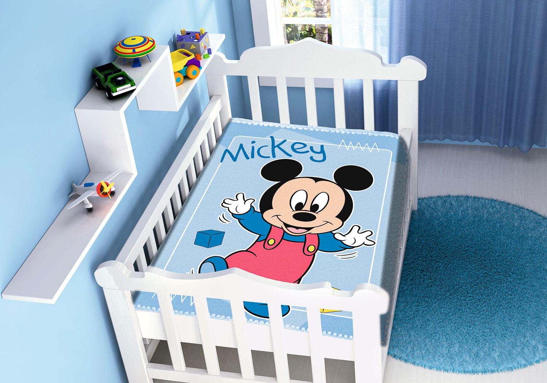 Cobertor Bebê Antialérgico Jolitex Disney Mickey Passinhos