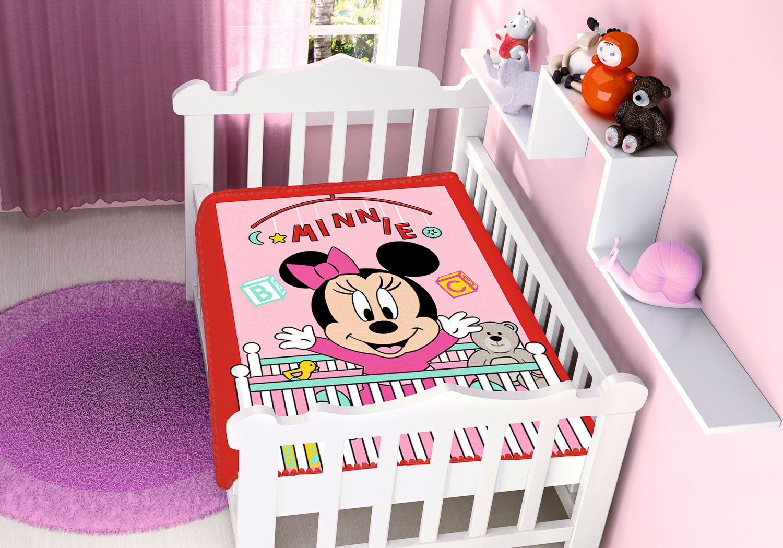 Cobertor Bebê Antialérgico Jolitex Disney Minnie Bercinho