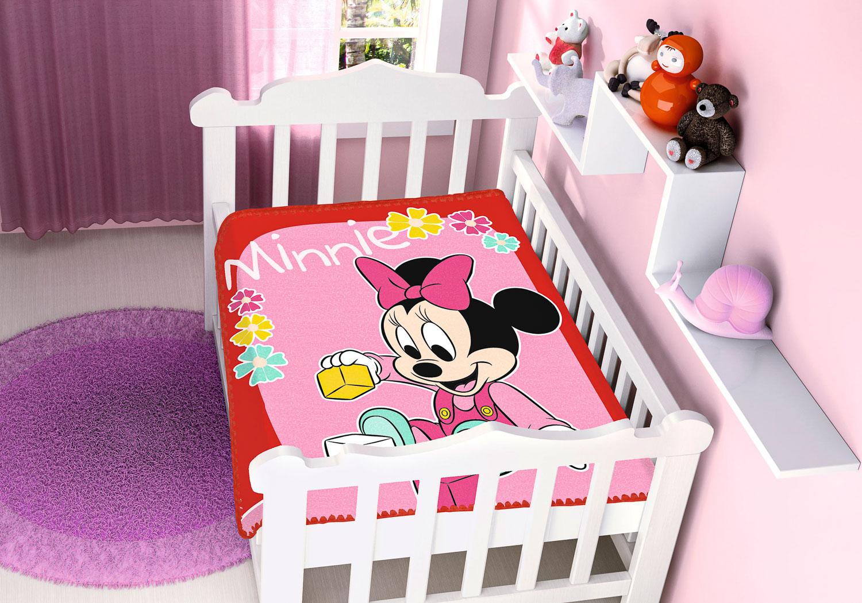 Cobertor Bebê Antialérgico Jolitex Disney Minnie Brincando
