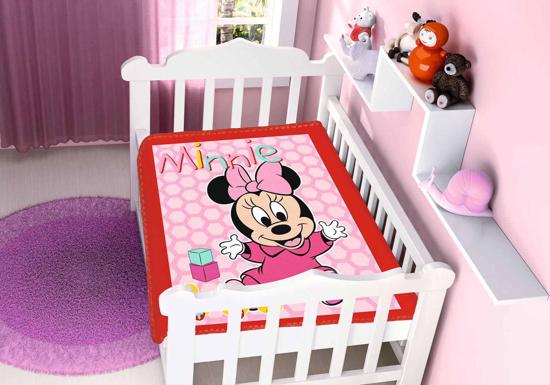 Cobertor Bebê Antialérgico Jolitex Disney Minnie Patinhos