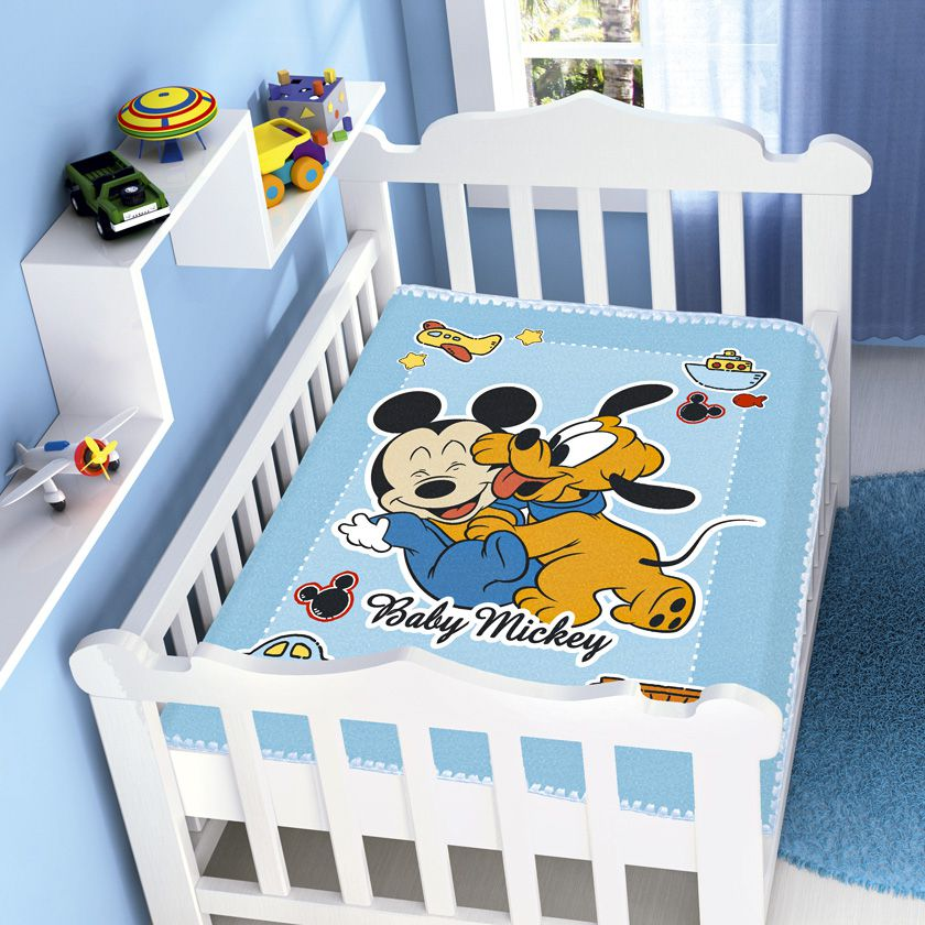 Cobertor Bebê Jolitex 0,90x1,10m Disney Mickey Divertido