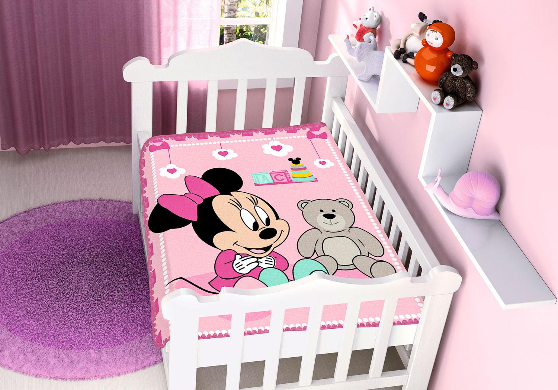 Cobertor de Bebê Antialérgico Jolitex Disney Minnie Surpresa