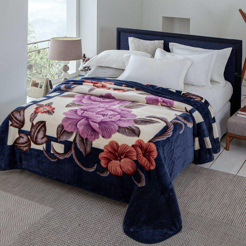 Cobertor Jolitex Antialergico Casal Kyor Plus Ancona Azul