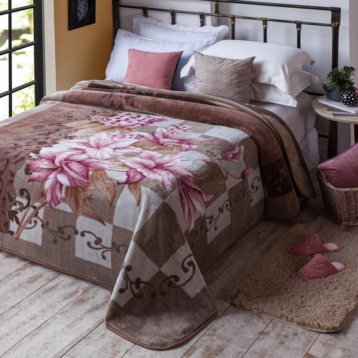 Cobertor Jolitex Antialergico Casal Kyor Plus Mendoza Marrom