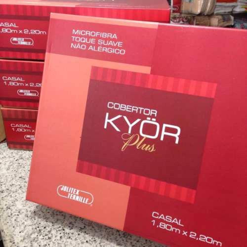 Cobertor Jolitex Antialergico Casal Kyor Plus Provenca Cinza
