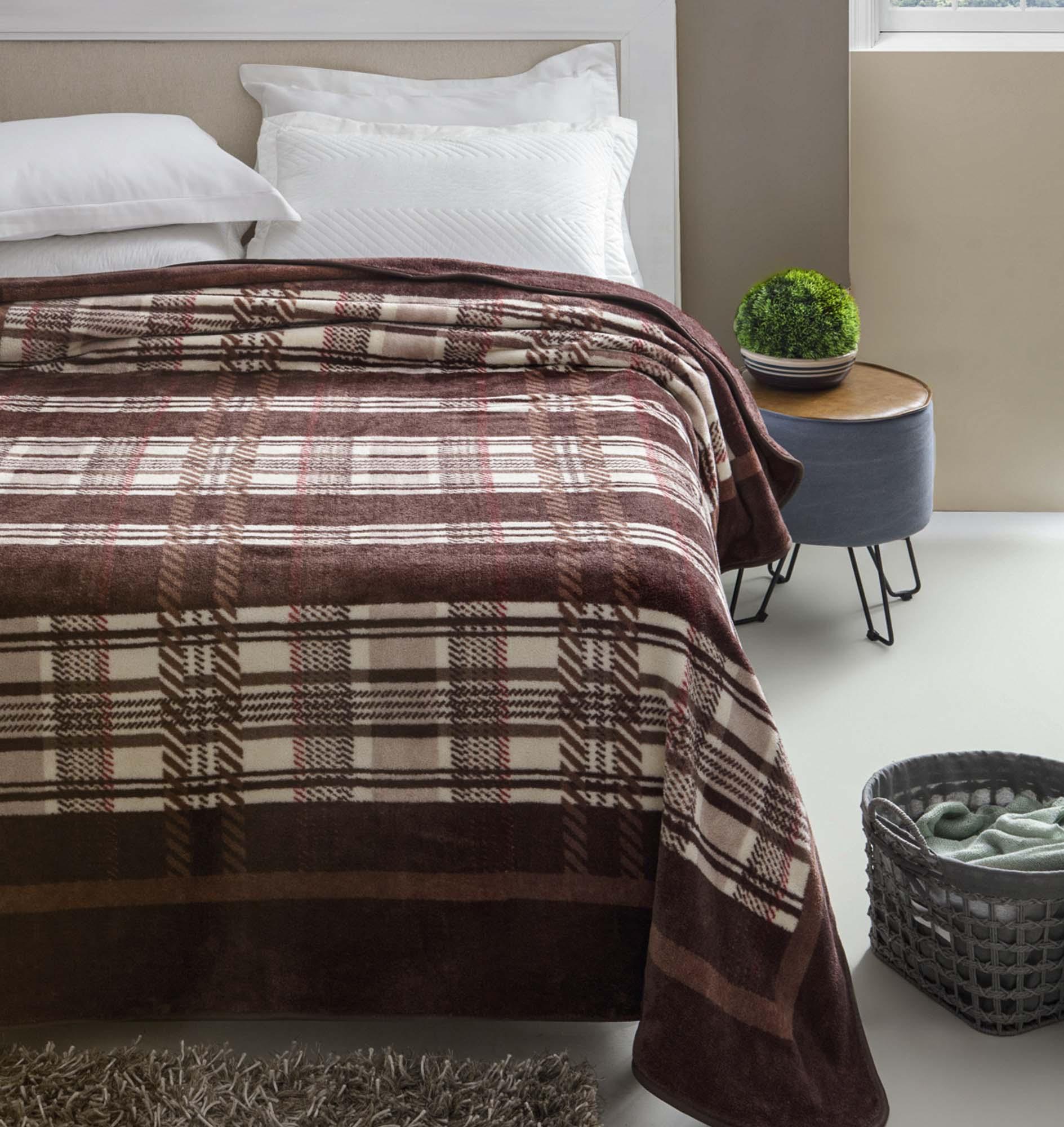 Cobertor Jolitex Casal Kyor Plus 1,80x2,20m Arezzo Marrom