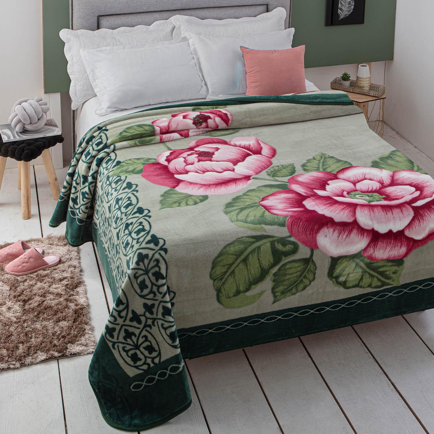 Cobertor Jolitex Casal Kyor Plus 1,80x2,20m Carini Verde