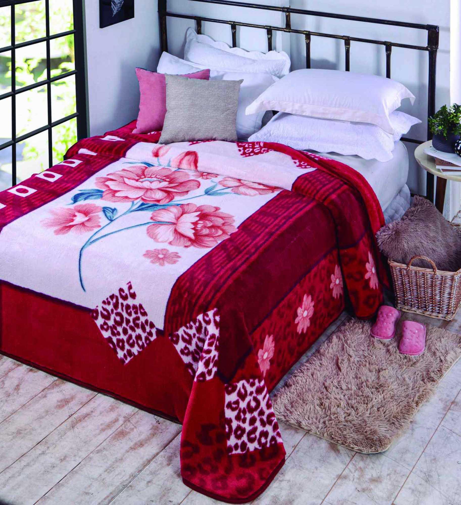Cobertor Jolitex Casal Kyor Plus 1,80x2,20m Lizzie Vinho