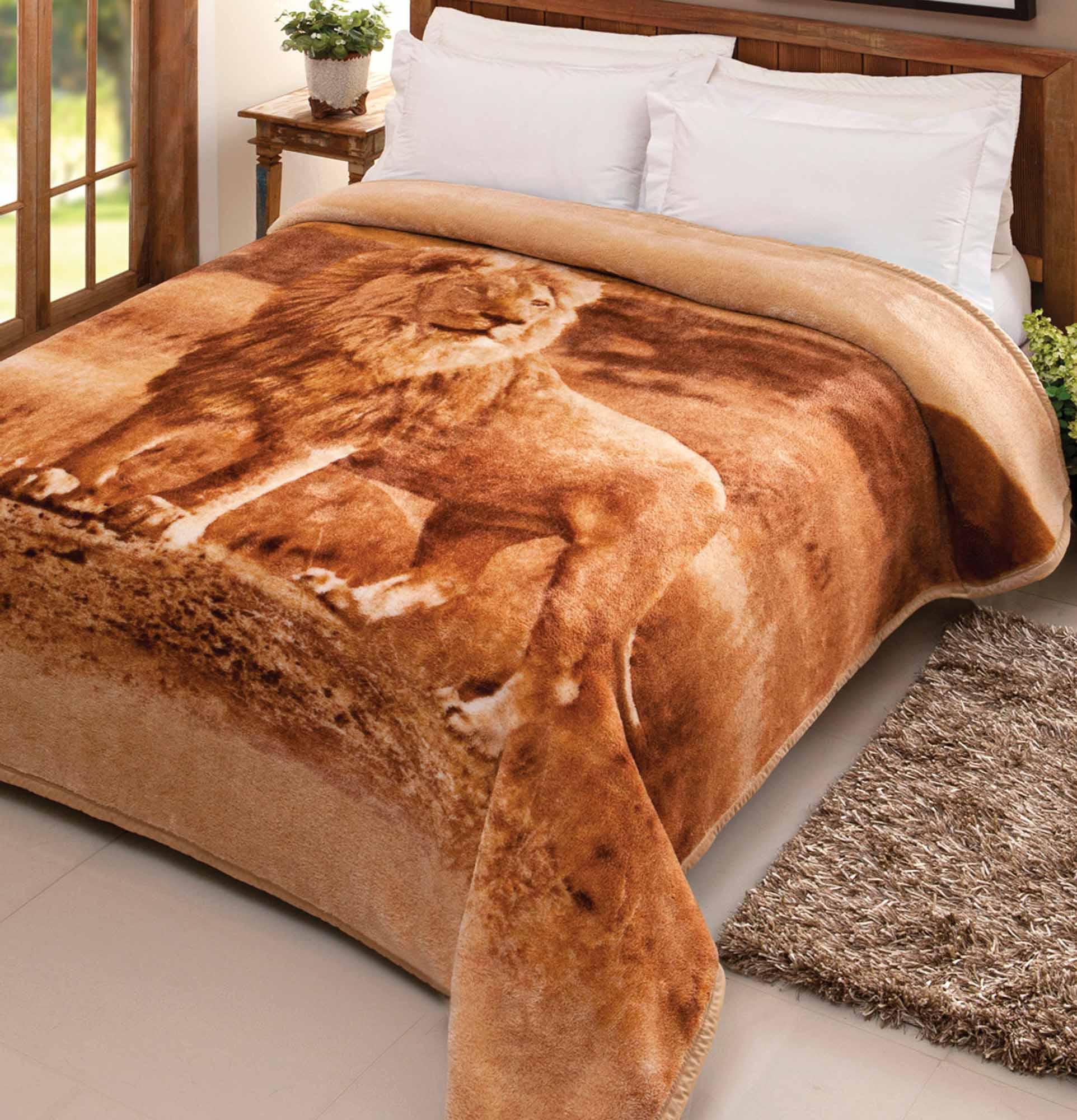 Cobertor Jolitex Casal Pelo Alto 1,80x2,20m Leao