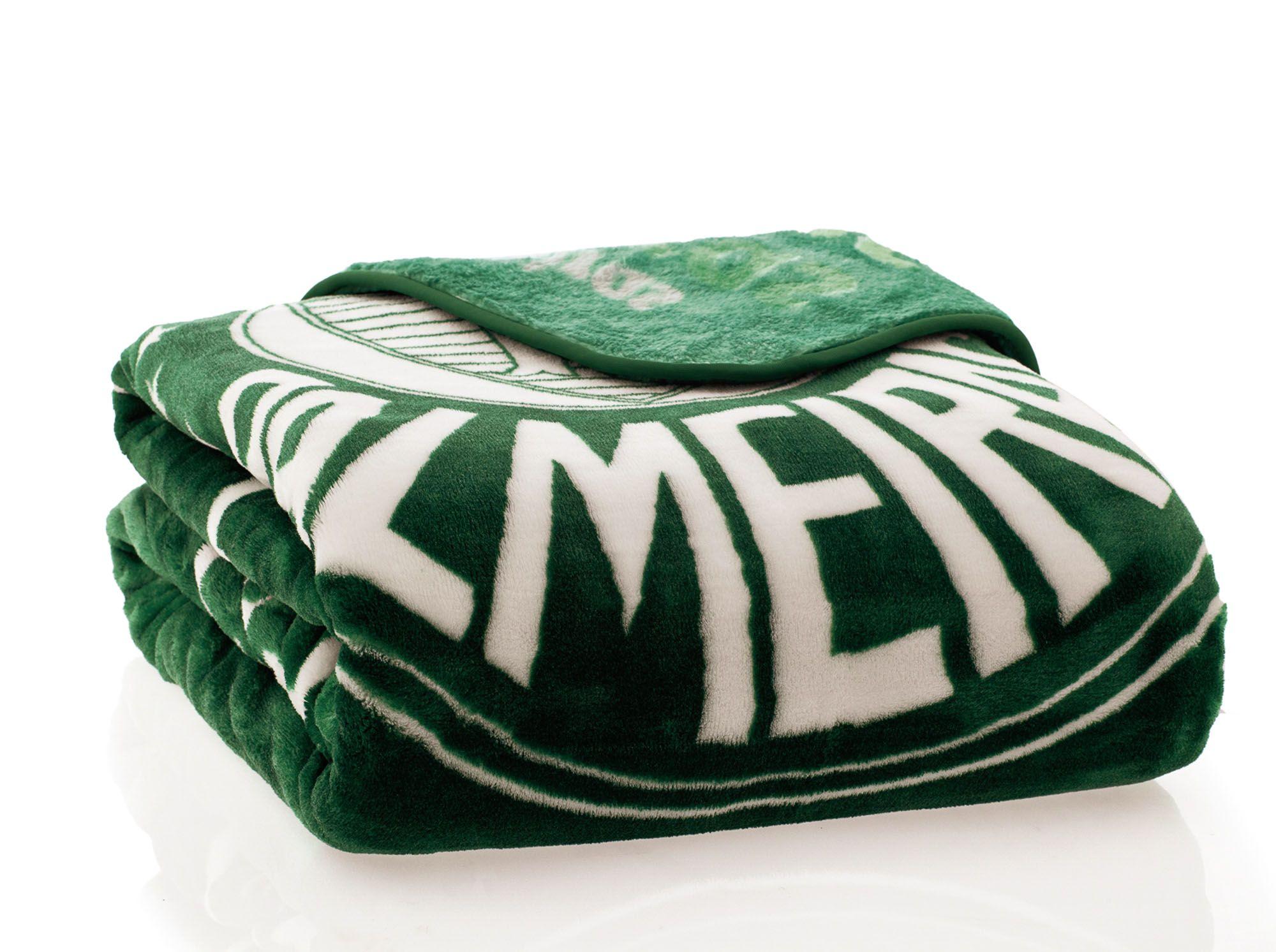 Cobertor Palmeiras Casal Jolitex 1,80x2,20m Raschel