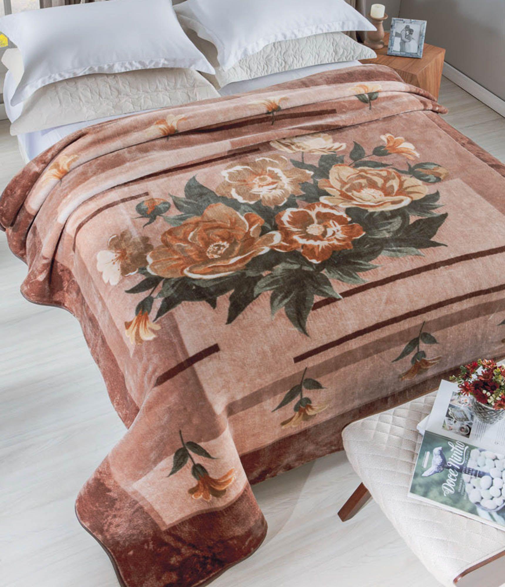 Cobertor Jolitex Raschel Casal 1,80x2,20m Allegro