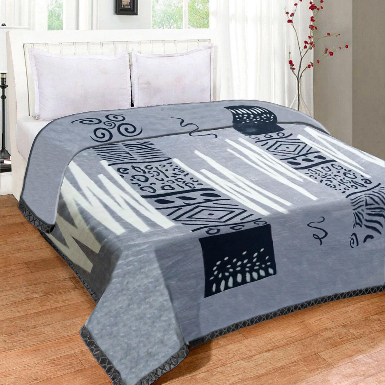 Cobertor Jolitex Raschel Casal 1,80x2,20m Belmeken Cinza