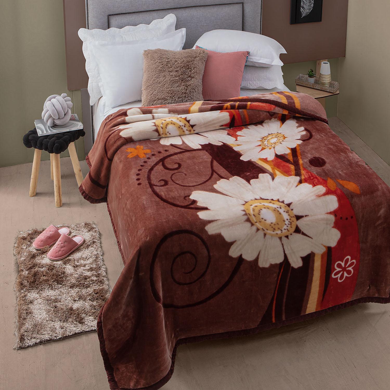Cobertor Jolitex Raschel Casal 1,80x2,20m Caster Marrom