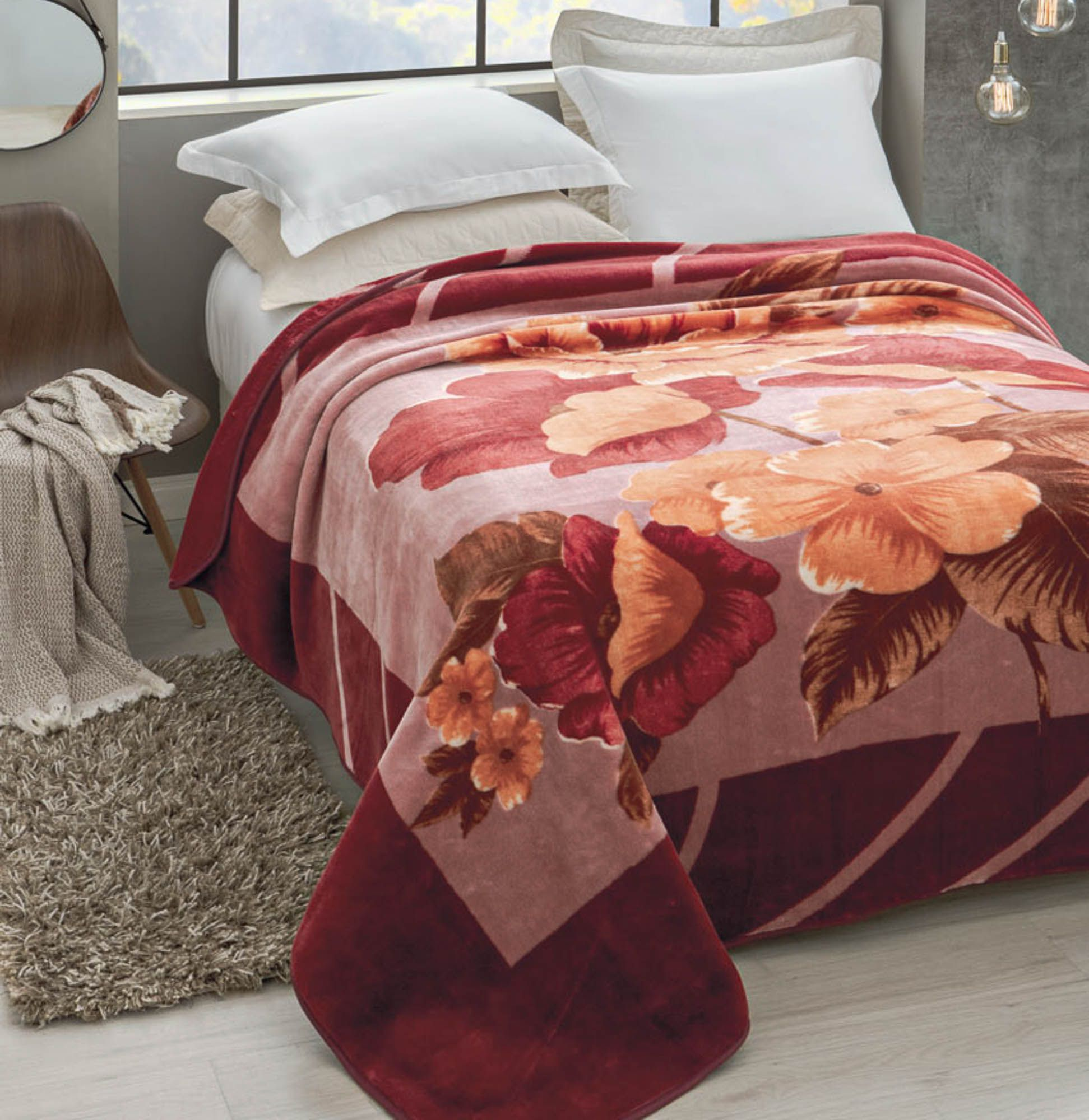 Cobertor Jolitex Raschel Casal 1,80x2,20m Esperance