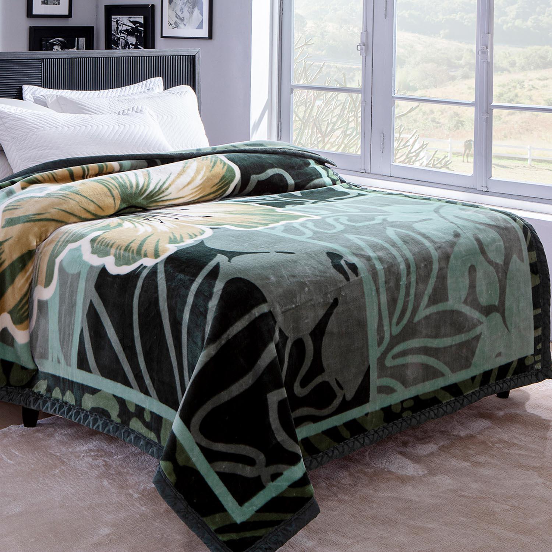 Cobertor Jolitex Raschel Casal 1,80x2,20m Havanera Verde