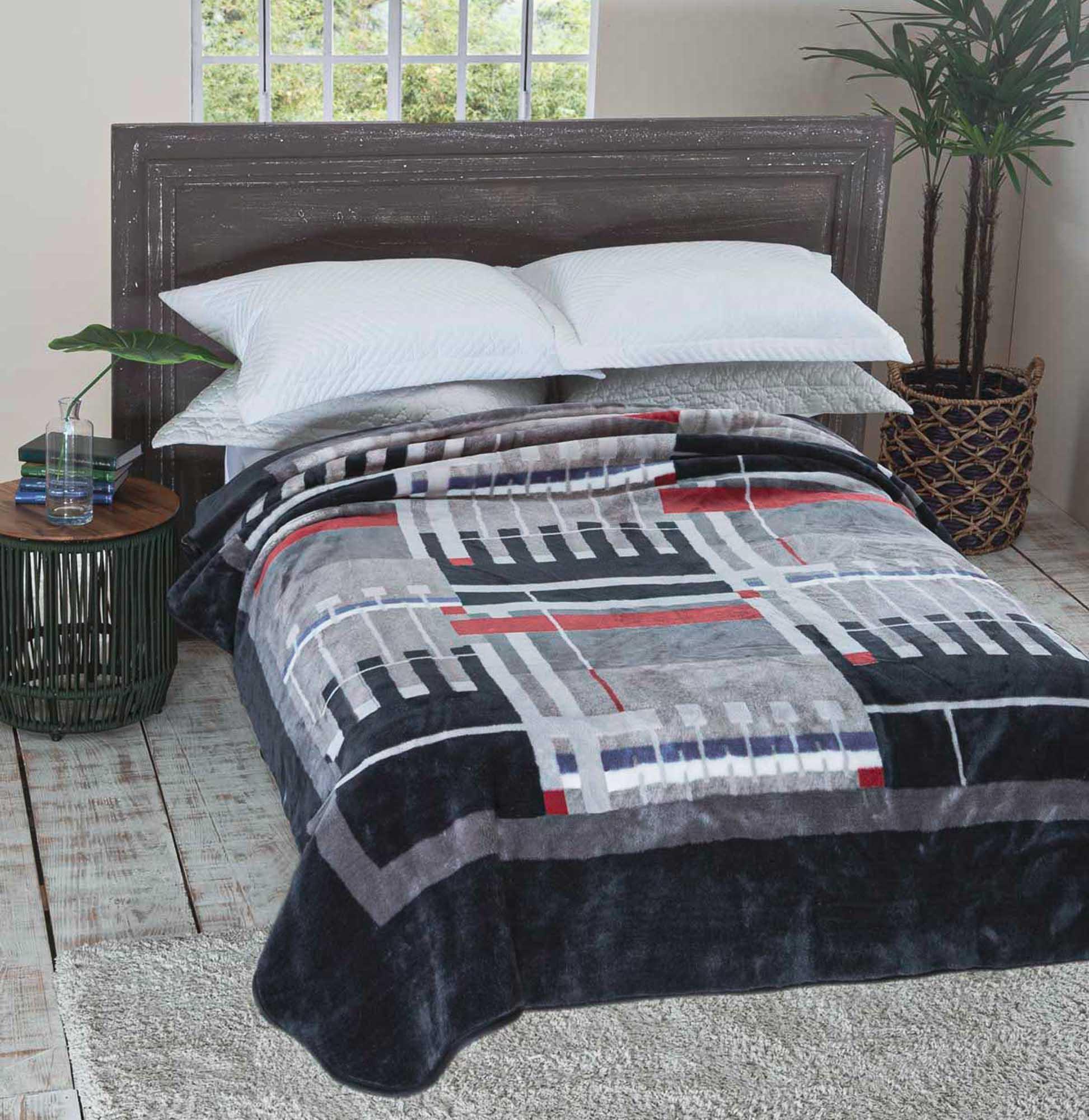 Cobertor Jolitex Raschel Casal 1,80x2,20m Modulo