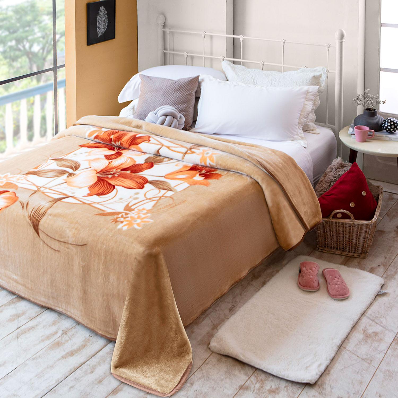 Cobertor Jolitex Raschel Casal 1,80x2,20m Molino Bege