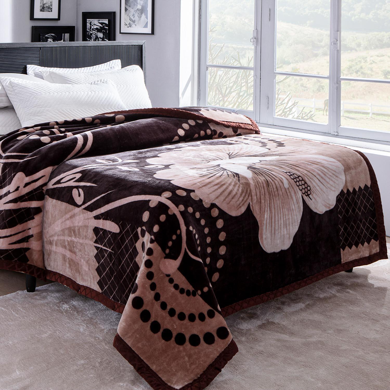 Cobertor Jolitex Raschel Casal 1,80x2,20m Tango Marrom