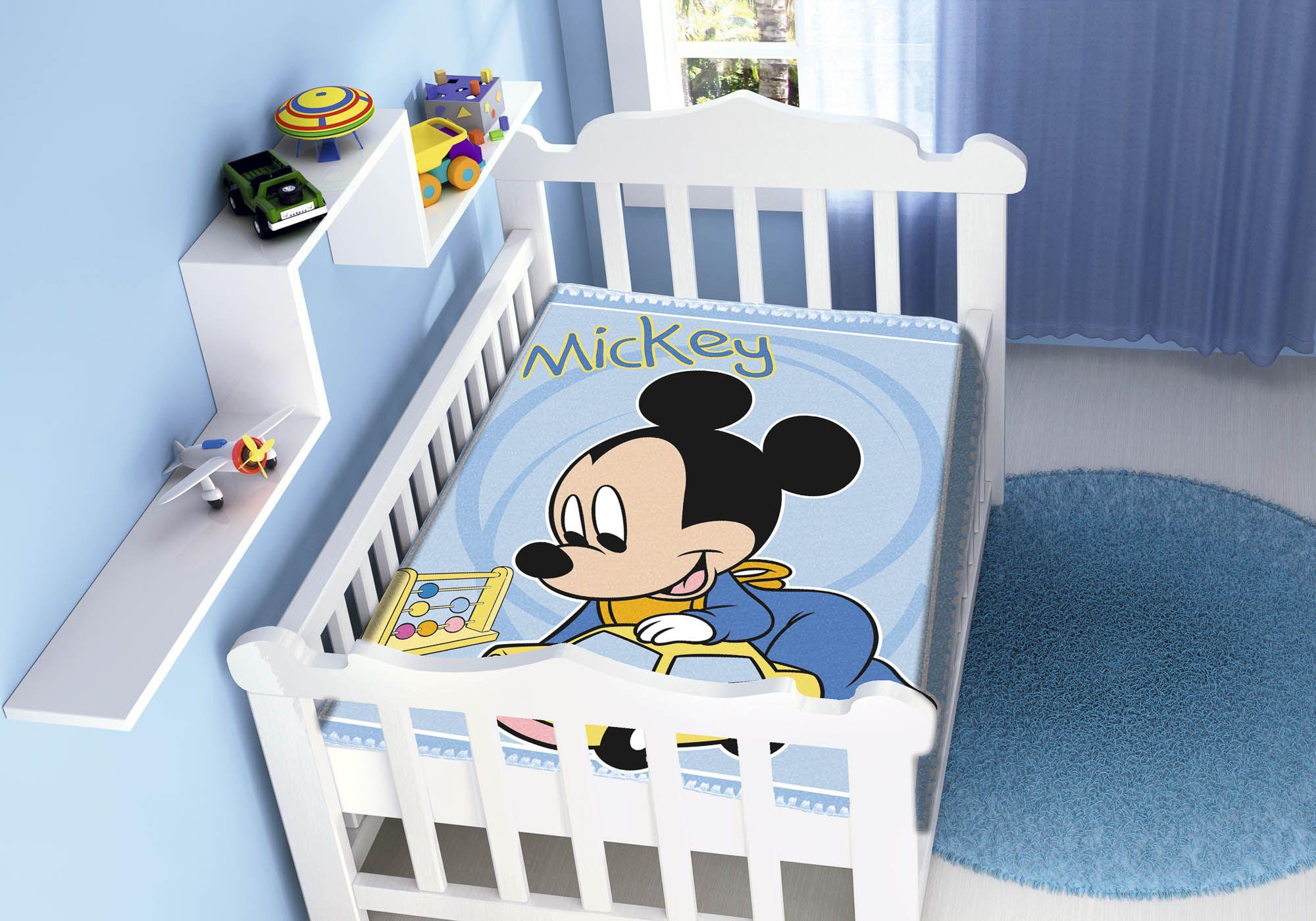 Cobertor Jolitex Raschel Infantil 0,90x1,10m Disney Mickey Diversão Carro