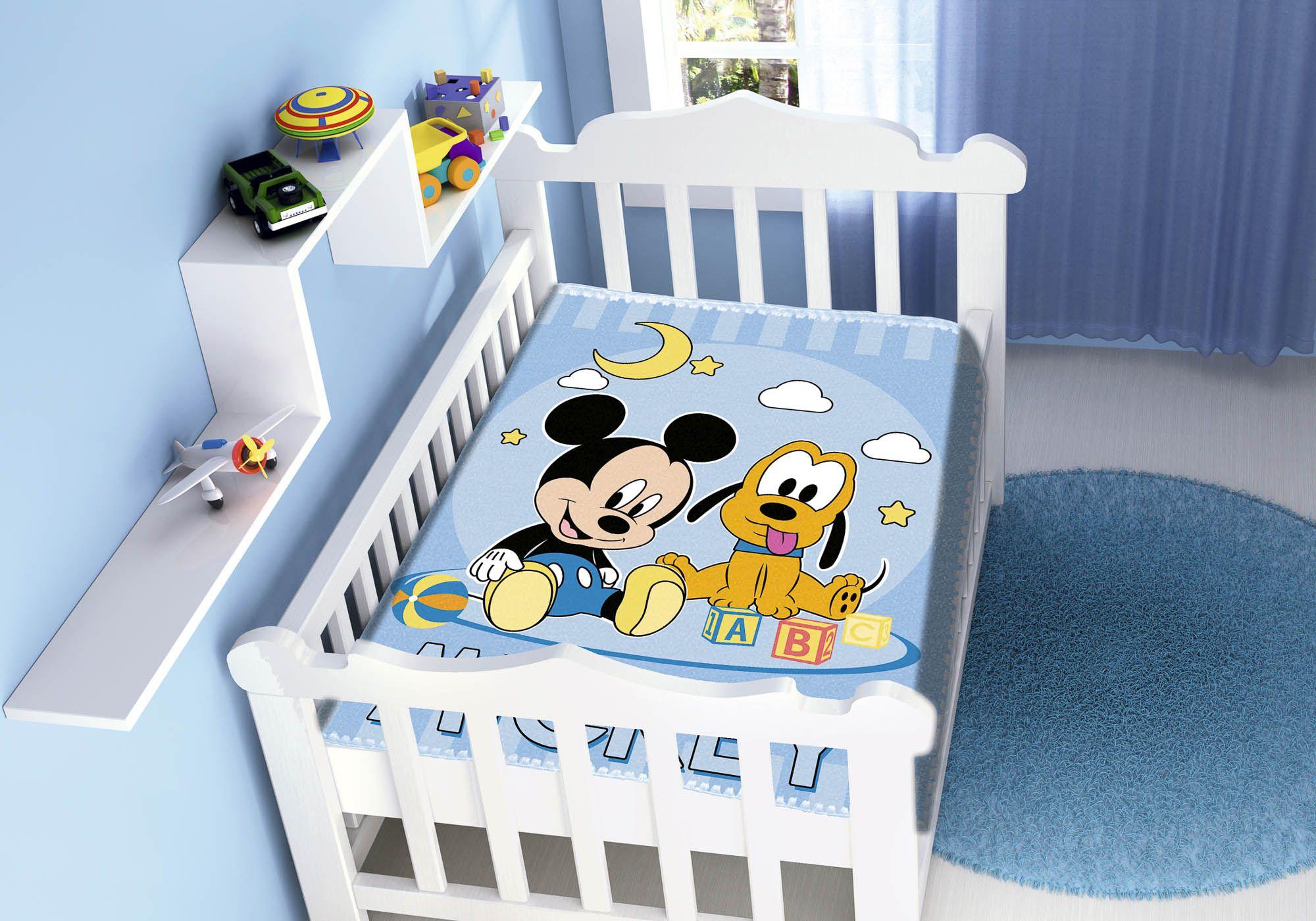 Cobertor Jolitex Raschel Infantil 0,90x1,10m Disney Mickey Pluto Feliz