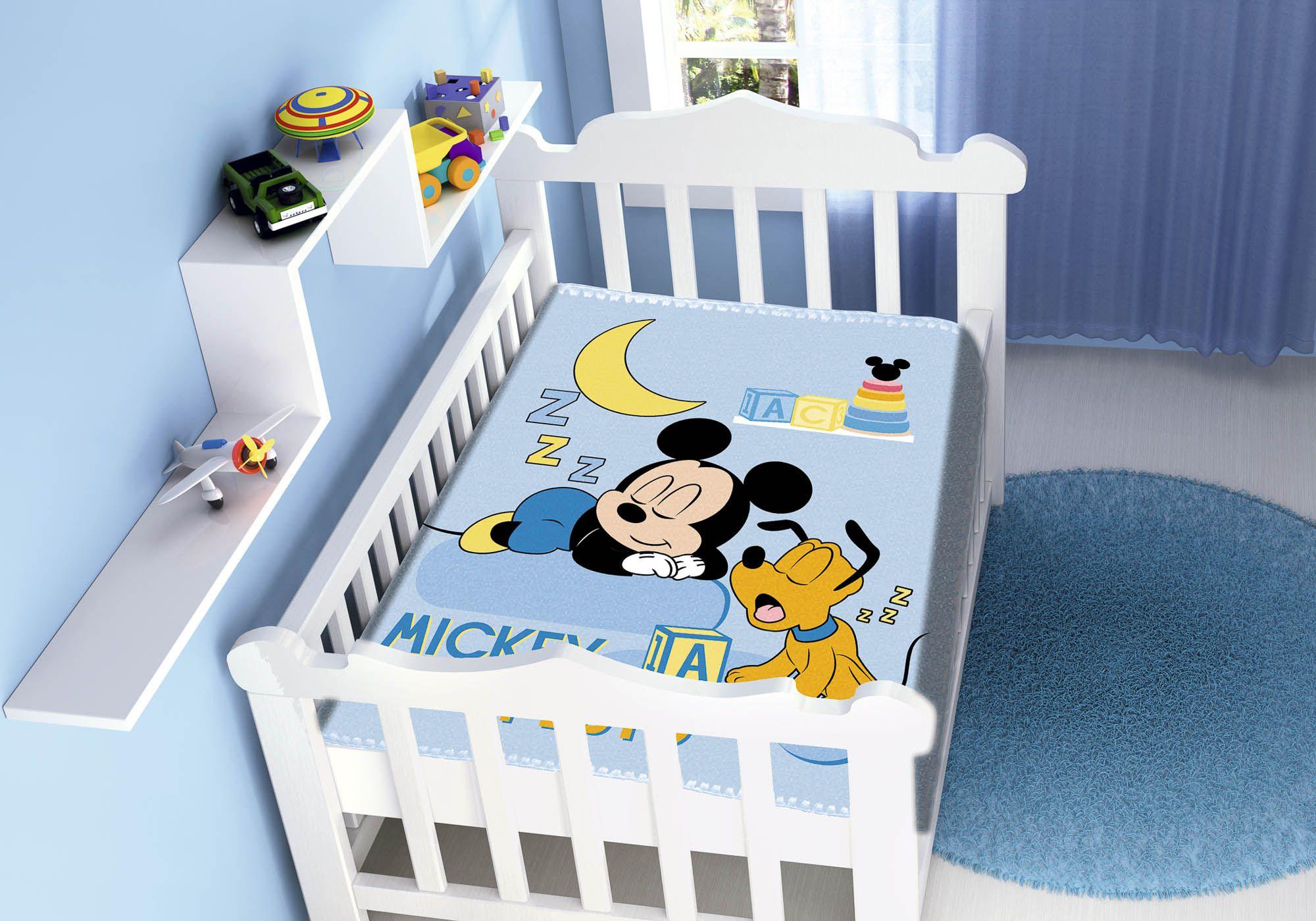 Cobertor Jolitex Raschel Infantil 0,90x1,10m Disney Mickey Sonhando